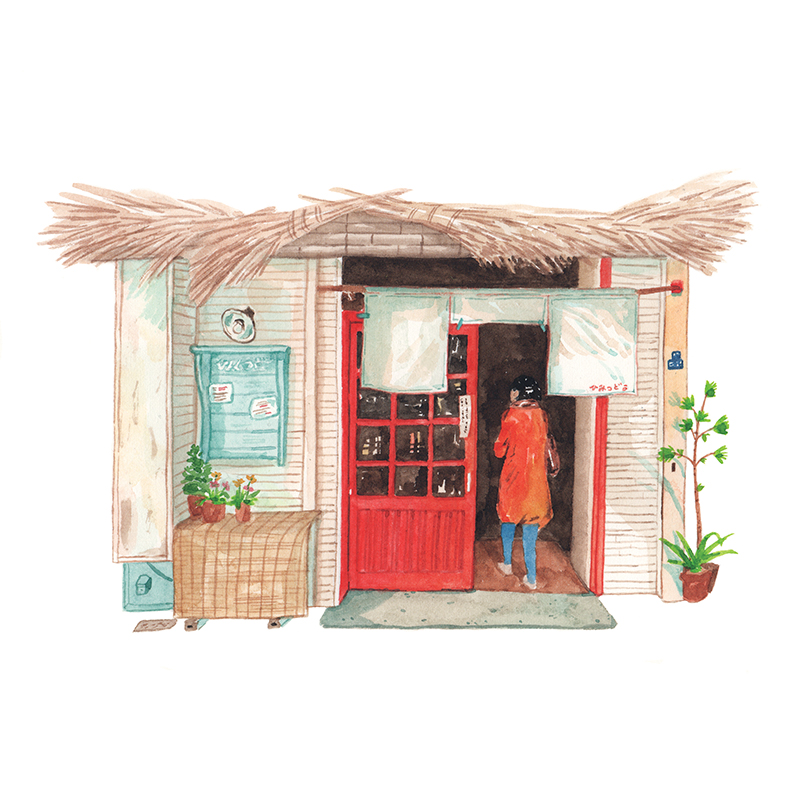 Justine-Wong-Illustration-21-Days-in-Japan-Tokyo-Himitsudo-Exterior.jpg