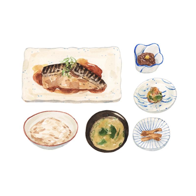 Justine-Wong-Illustration-21-Days-in-Japan-Tokyo-Lunch-Set.jpg