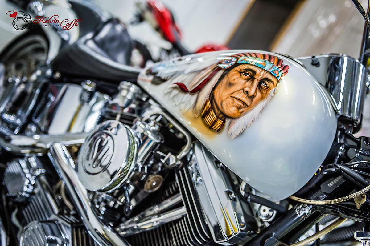 Harley Davidson Custom Paint Job - Kelvin Luffs Photography