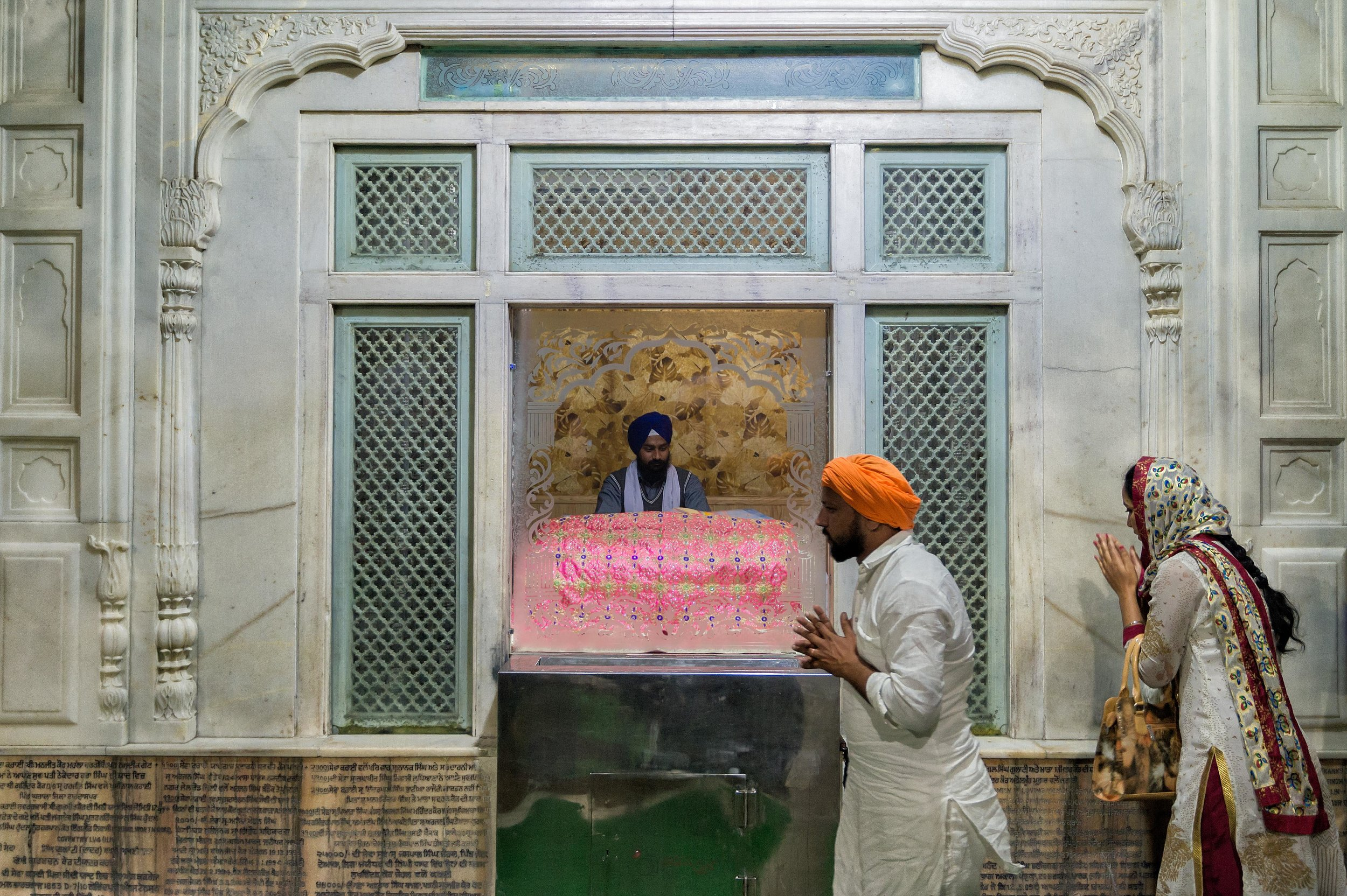 If i am not mistaken and I do believe that in the North, South, East & West side of the Golden Temple are small cubicles like this where priests would go at every part of the day to read the text from the Holy Book.