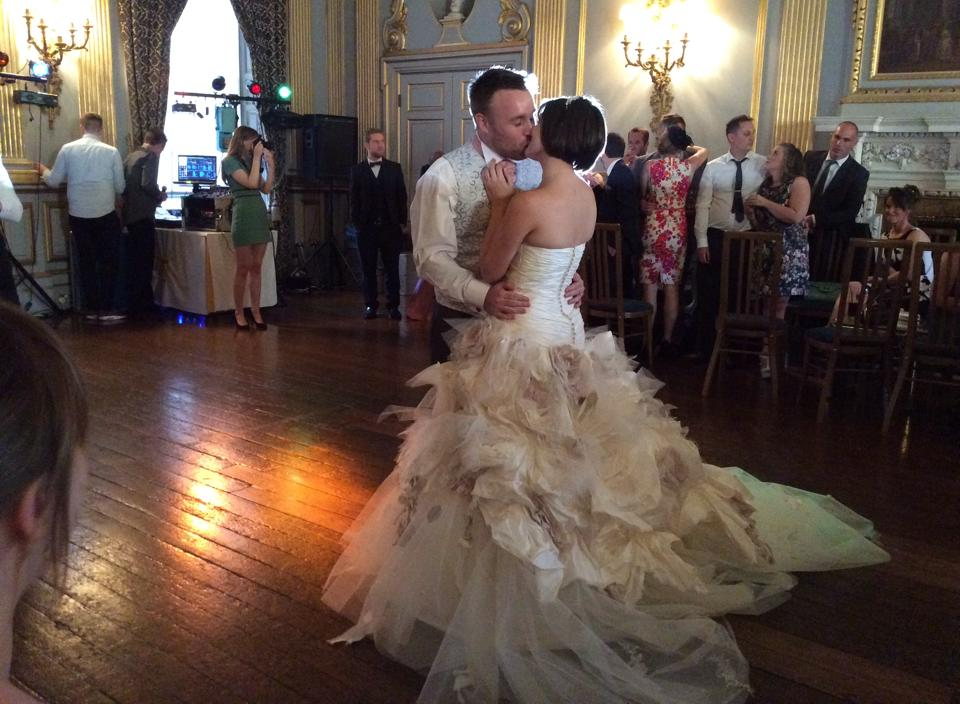 The first dance at our wedding