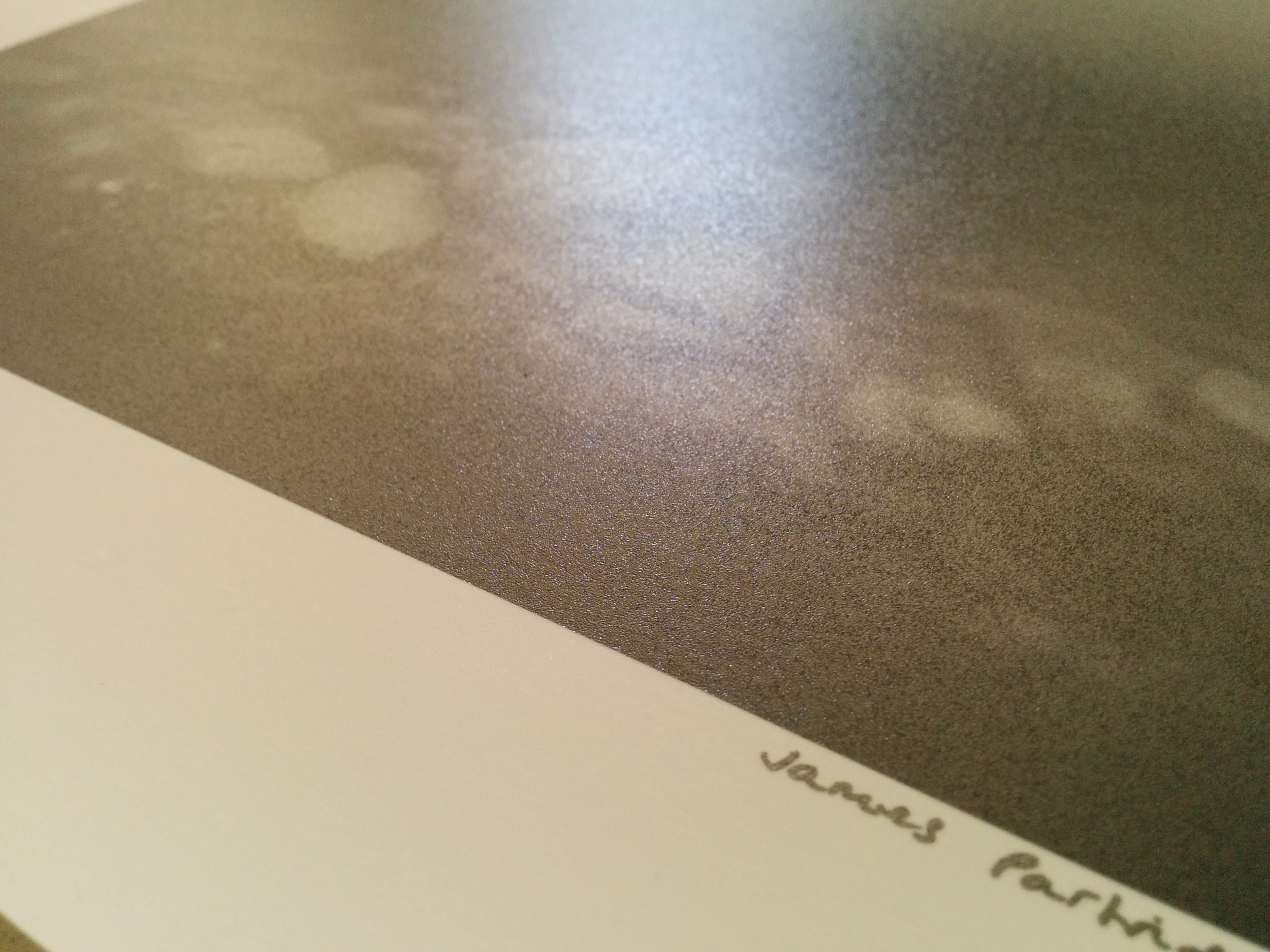 The vinyl like surface of Ultra Pearl