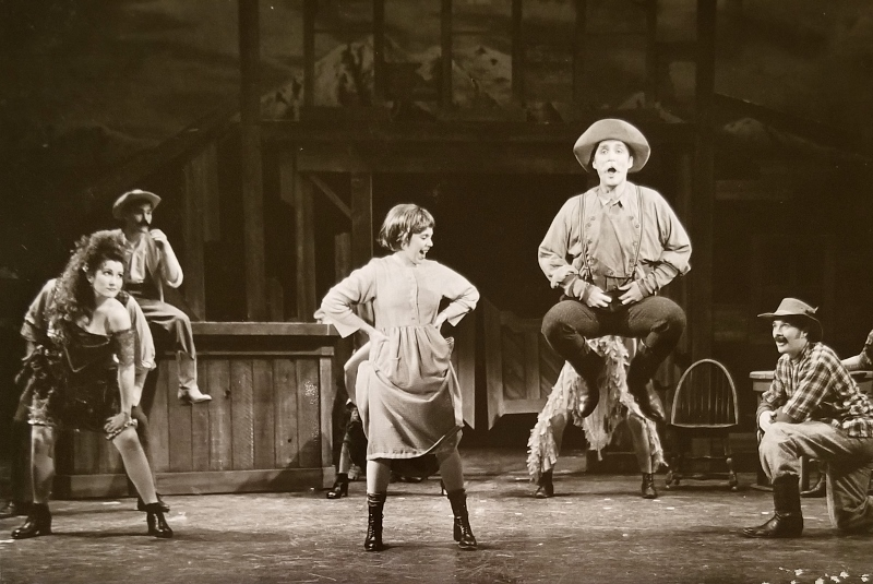 "As Molly in ""The Unsinkable Molly Brown""."