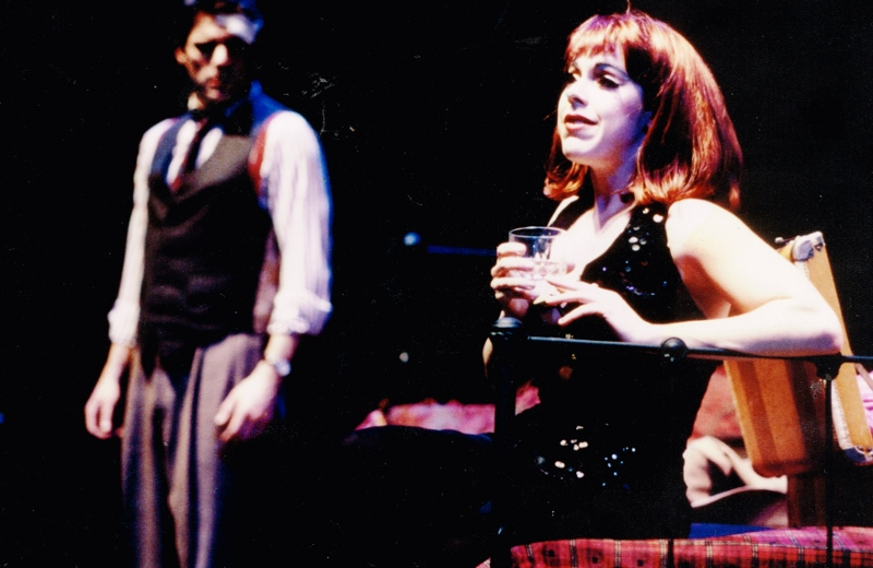 "As Sally Bowles in ""Cabaret"" (pictured with Mark Sparks)."