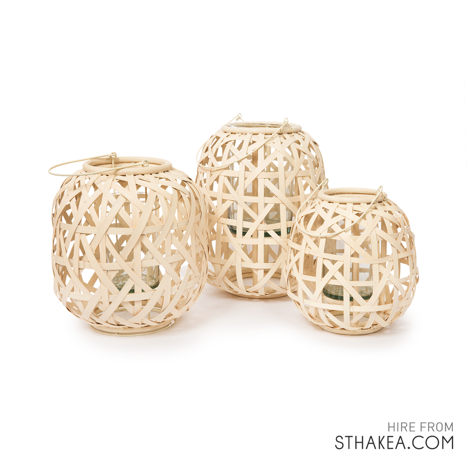 Wicker Lantern Holders