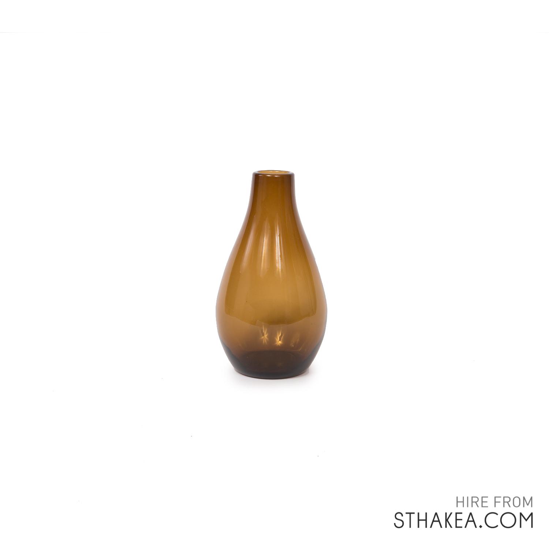 St Hakea Melbourne Hire Small Amber Bulb Vase.jpg