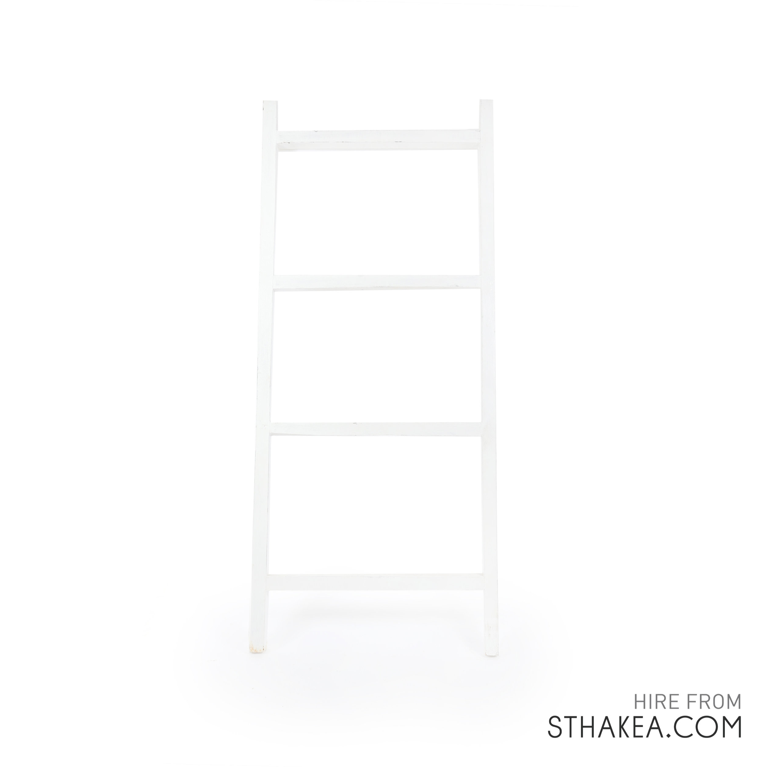 St Hakea Melbourne Event Hire White Leaning Ladder.jpg