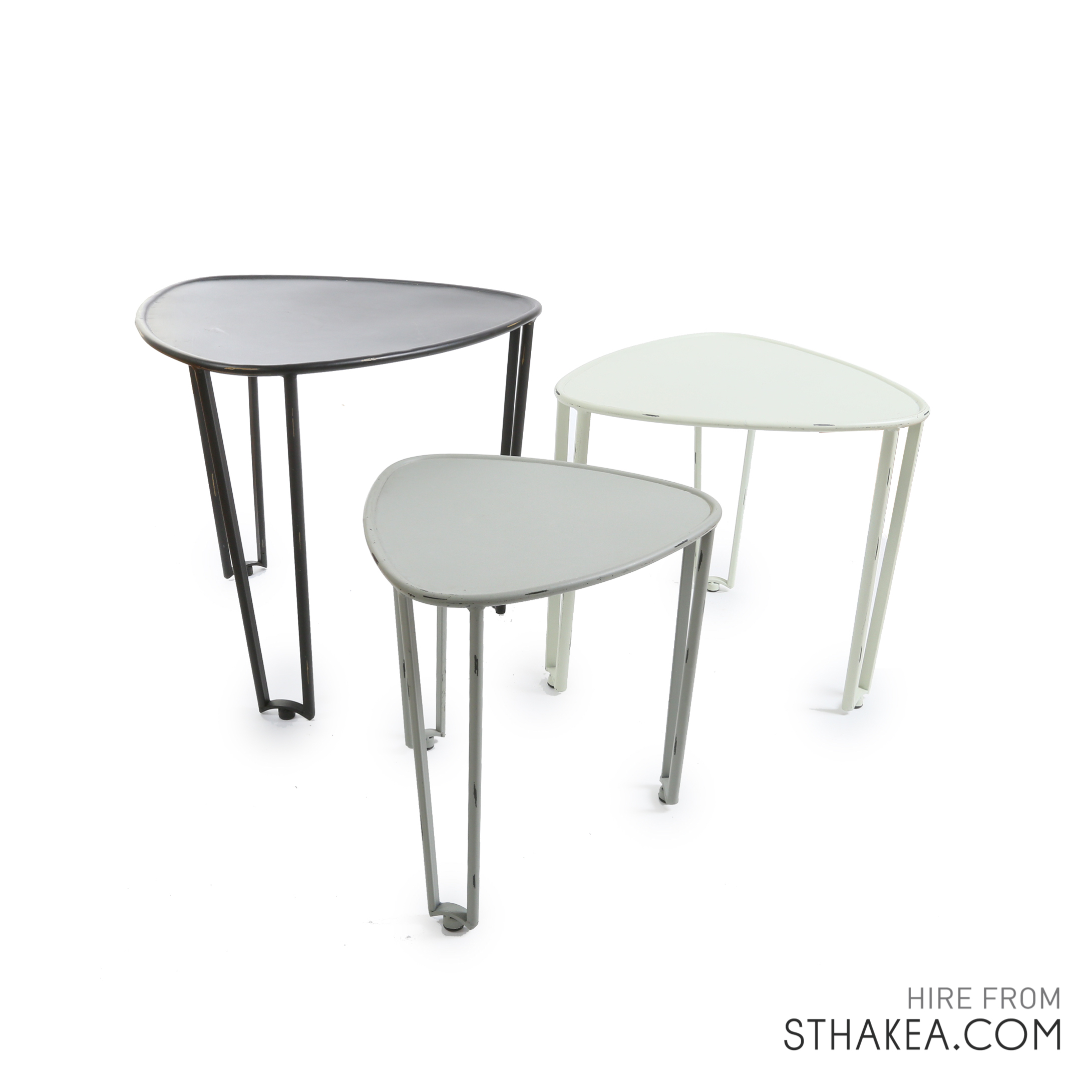 St Hakea Melbourne Event Hire Monochrome side tables.jpg