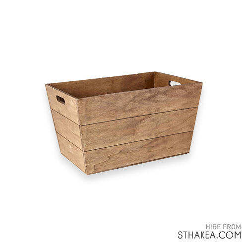 St Hakea Melbourne Event Hire Tapered Timber Crate.jpg