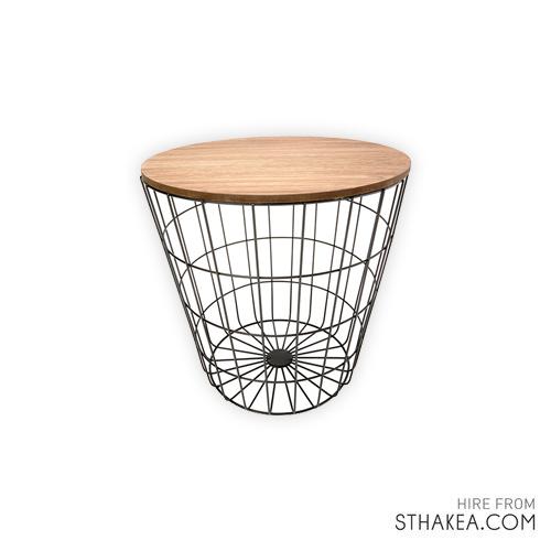 St Hakea Melbourne Event Hire Wire Basket Table.jpg