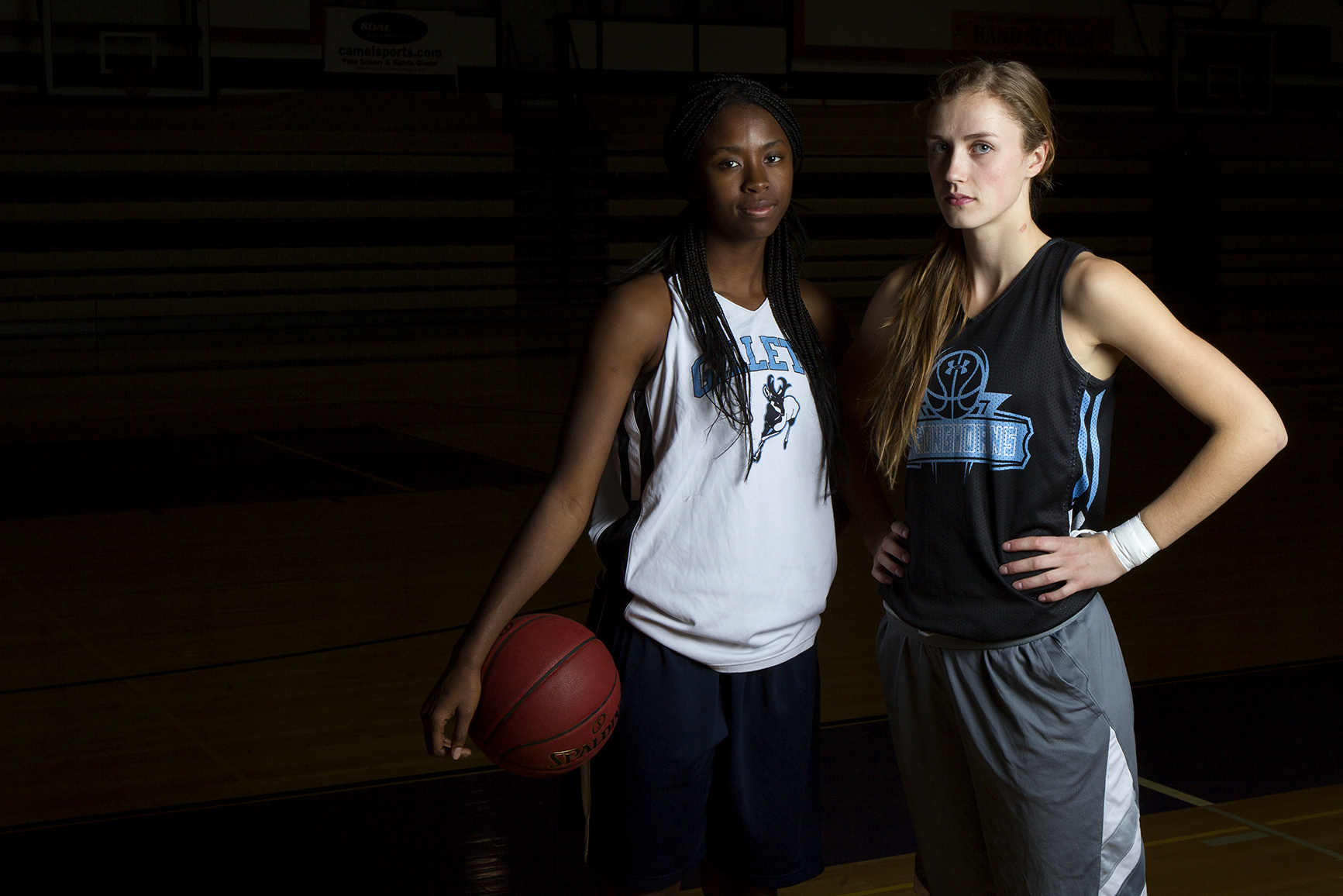 Sophomores Nakedra Burke, left, and Beth Sutter are the lone returning players on the Gillette College women's basketball team.