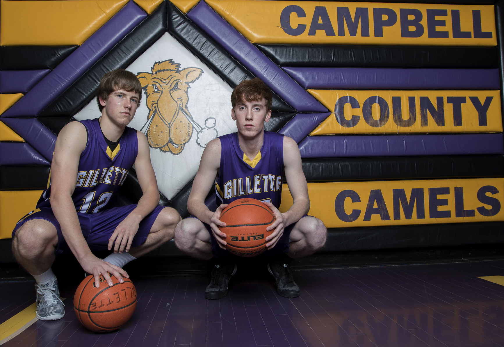 Hunter Sylte, left, and Joe Quinn are wrapping up their Camels careers this year, with their final home game this Friday night. The duo have been playing basketball together, along with fellow seniors Kain Morehead and Dalton Holst, since their traveling team the Outlaws in fourth grade.