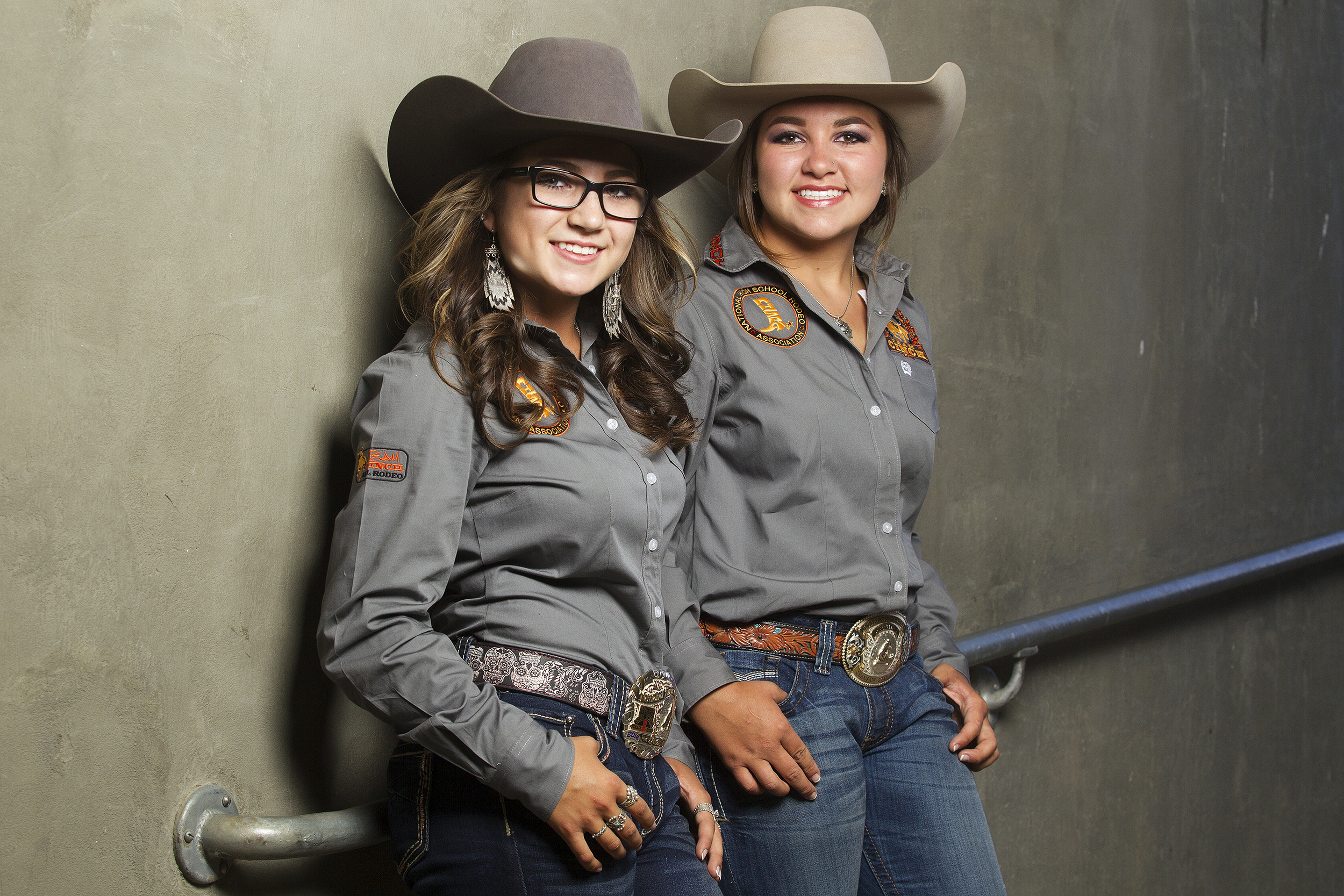 Madison, left, and Miranda Iager are running for president and vice president of the National High School Rodeo Associations student officers. Together the pair qualified for five events at the 2016 National High School Finals Rodeo.