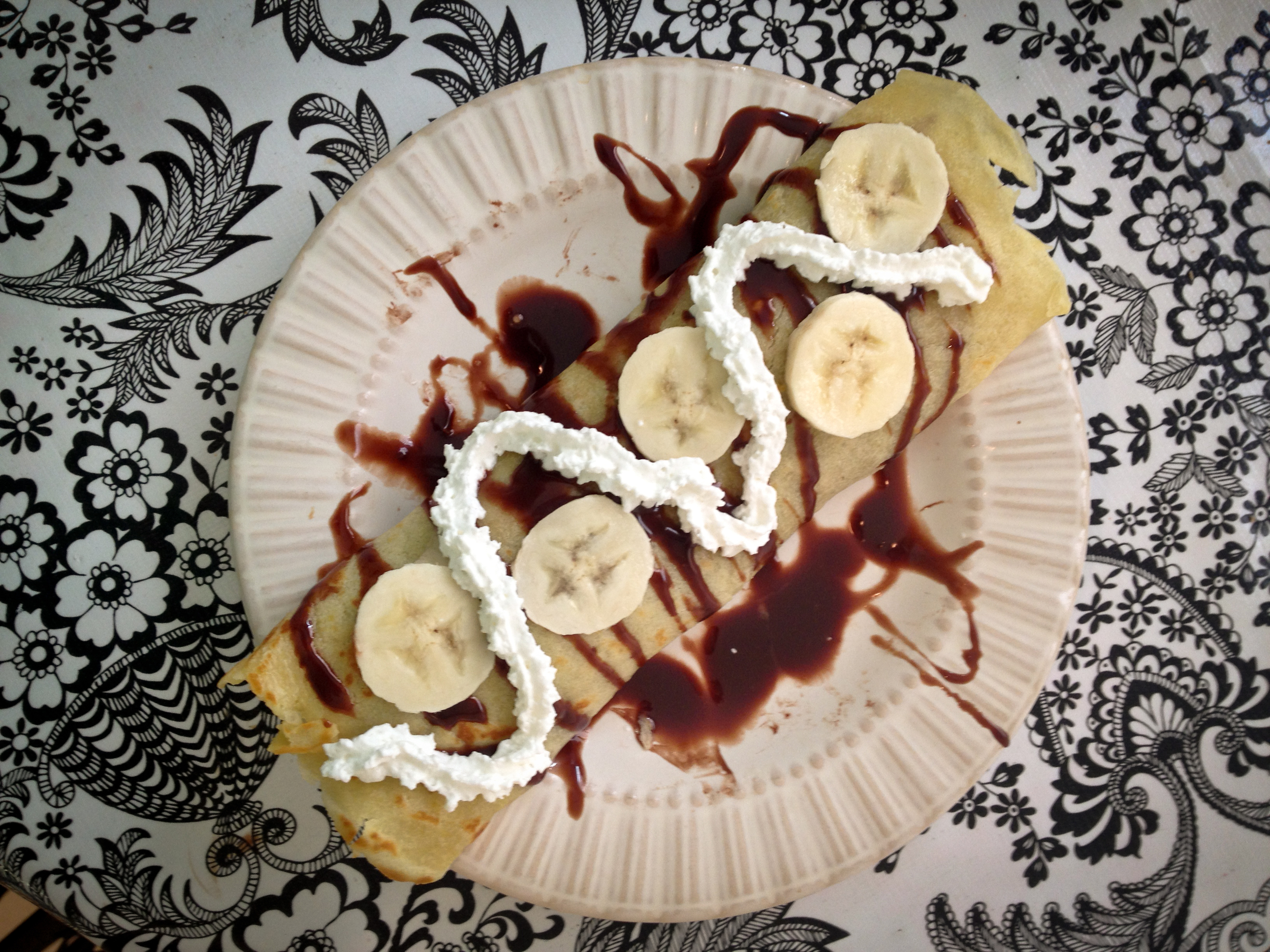 """*The """"sauce"""" on top was made by warming some Nutella with milk and stirring."""