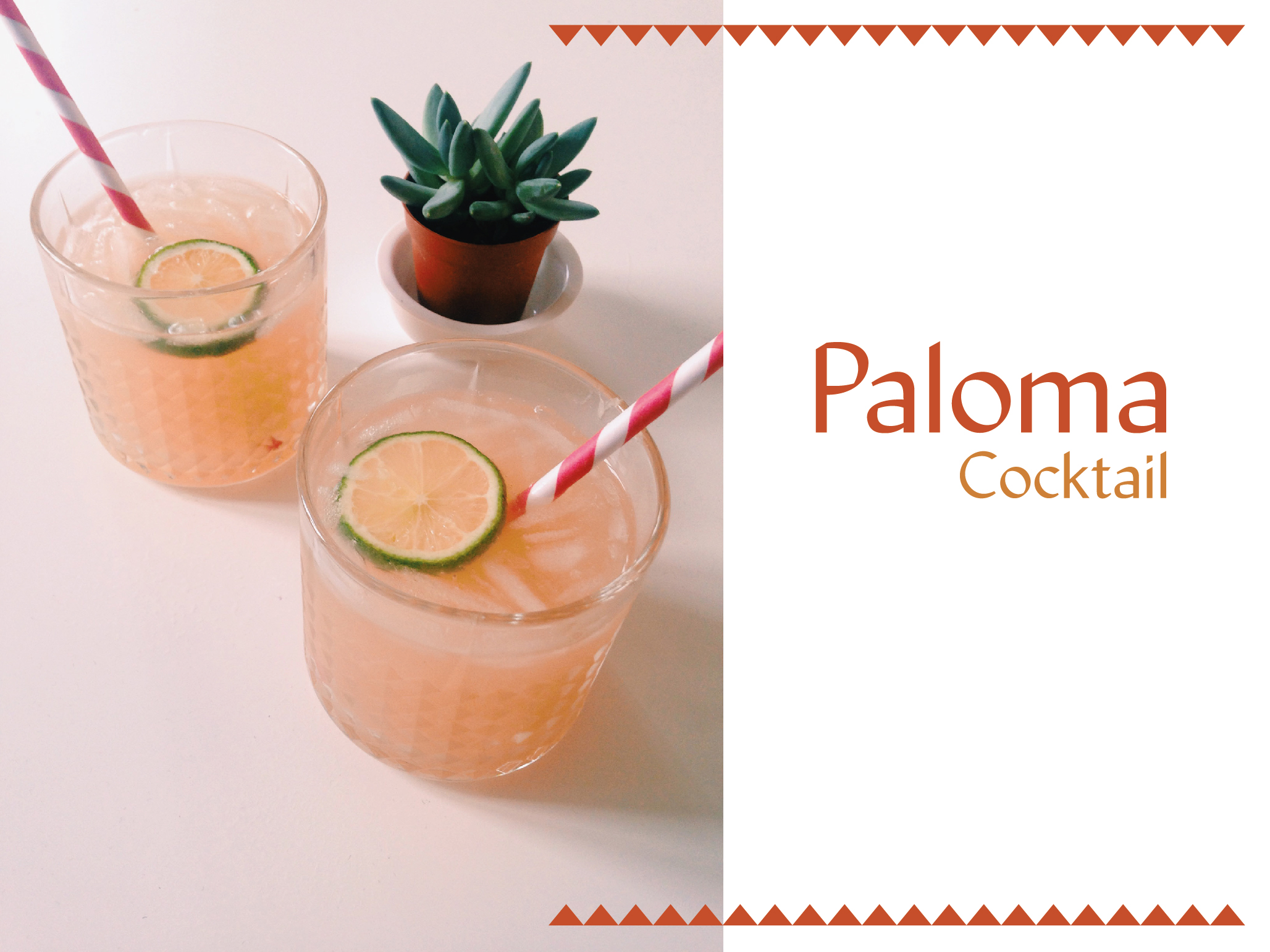Paloma Cocktail {Tequila+pamplemousse} / The Flying Flour