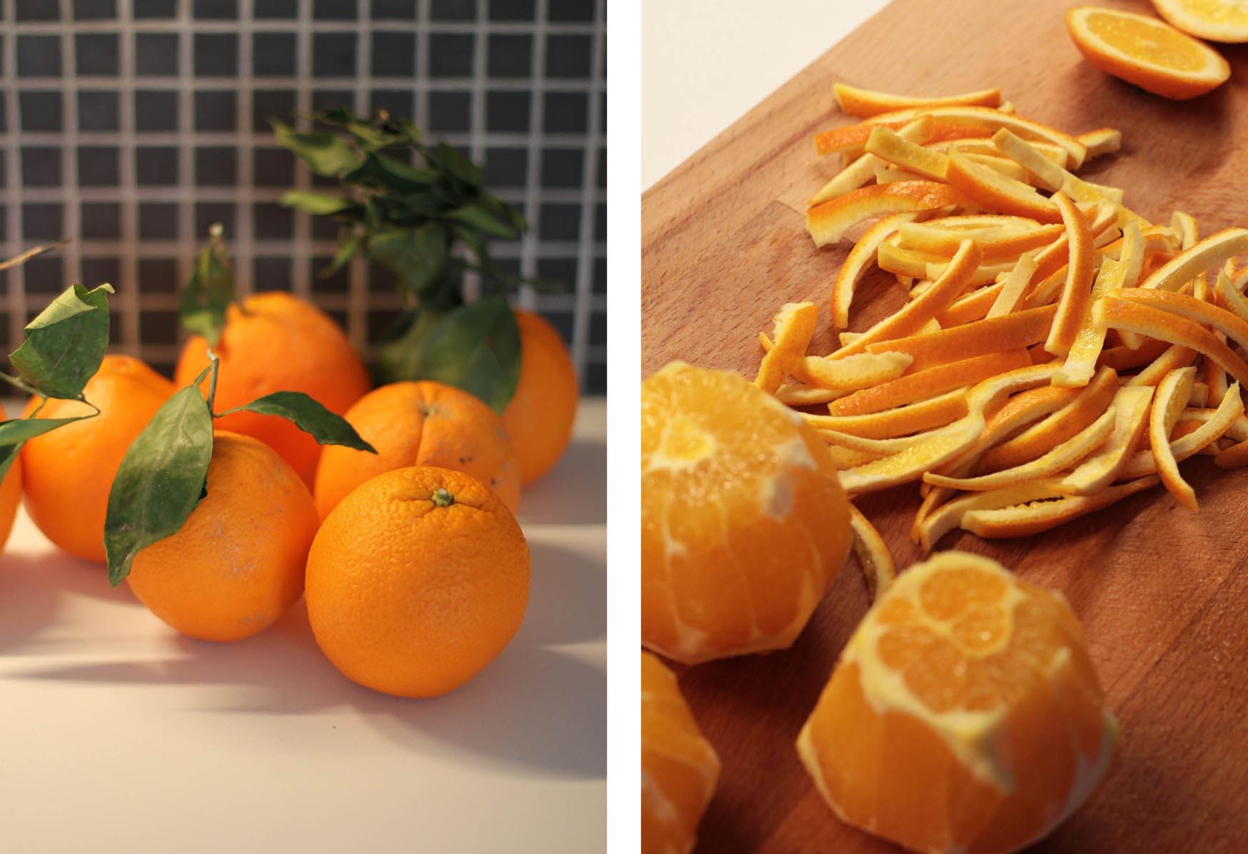 Les orangettes (orange confite enrobée de chocolat)   www.theflyingflour.com