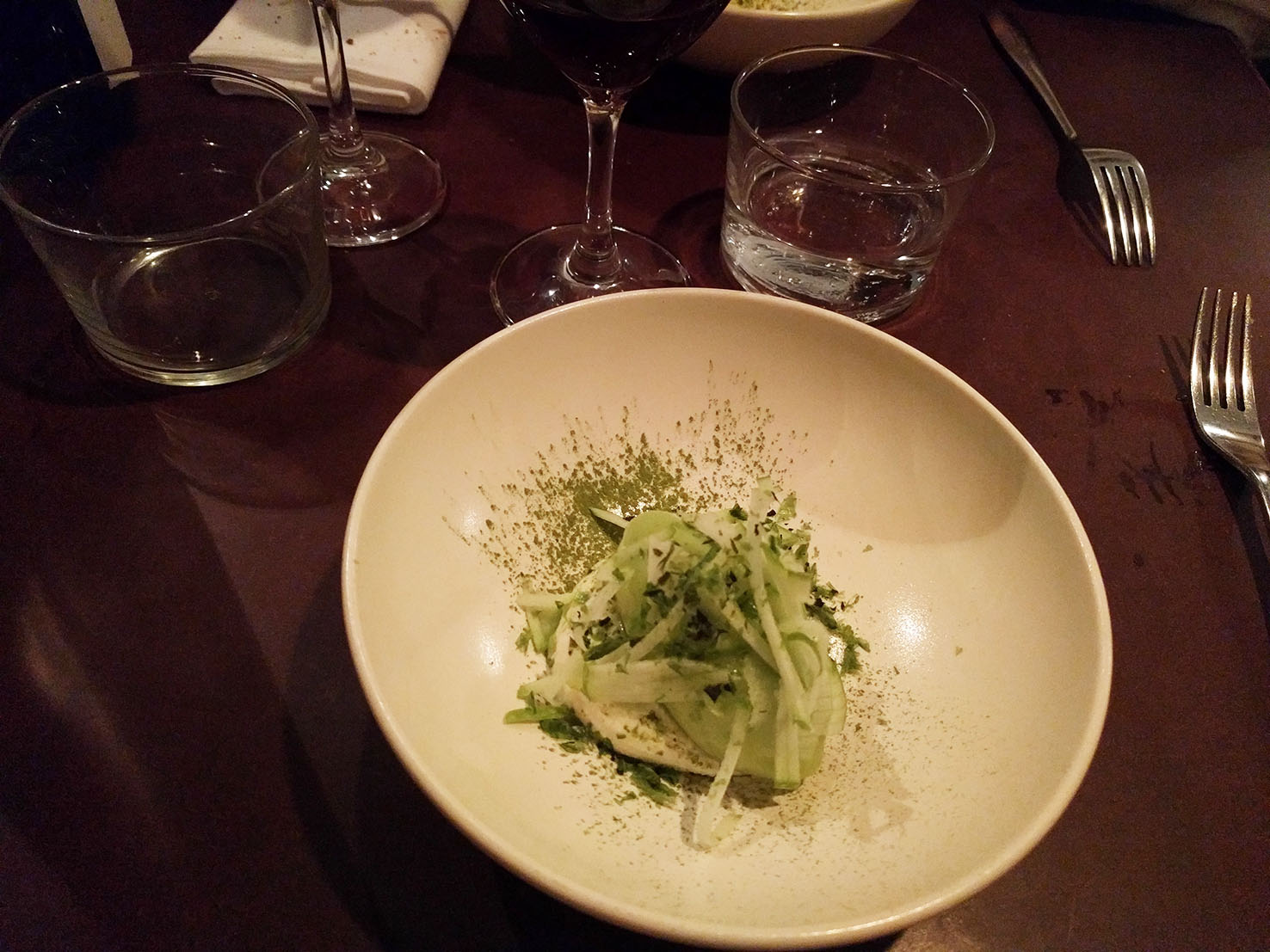 Sorbet estragon, pomme granny, algues