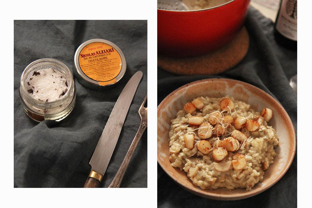 Risotto cèpes & noix de Saint Jacques | www.theflyingflour.com