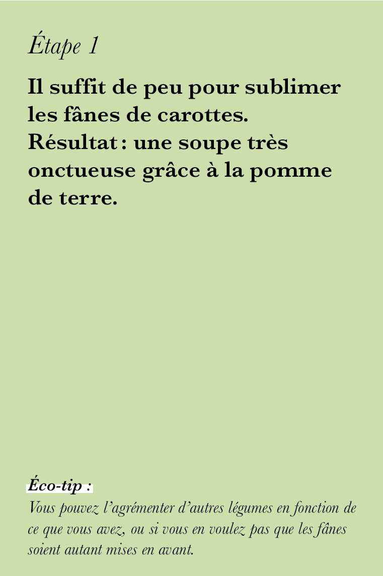 Velouté aux fanes de carottes ©theflyingflour