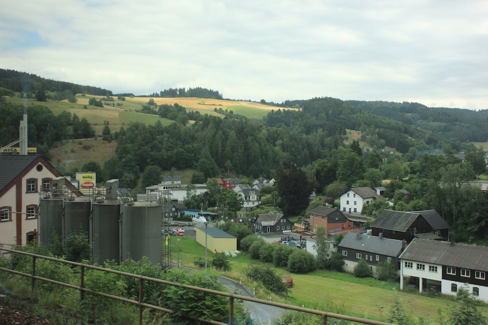Window view from regional train in Germany I Photo credit: Rose Spaziani