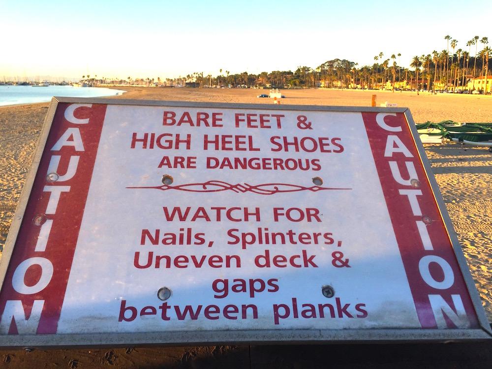 Sign at Stearns Wharf, Santa Barbara, Calif. | Photo credit: Rose Spaziani