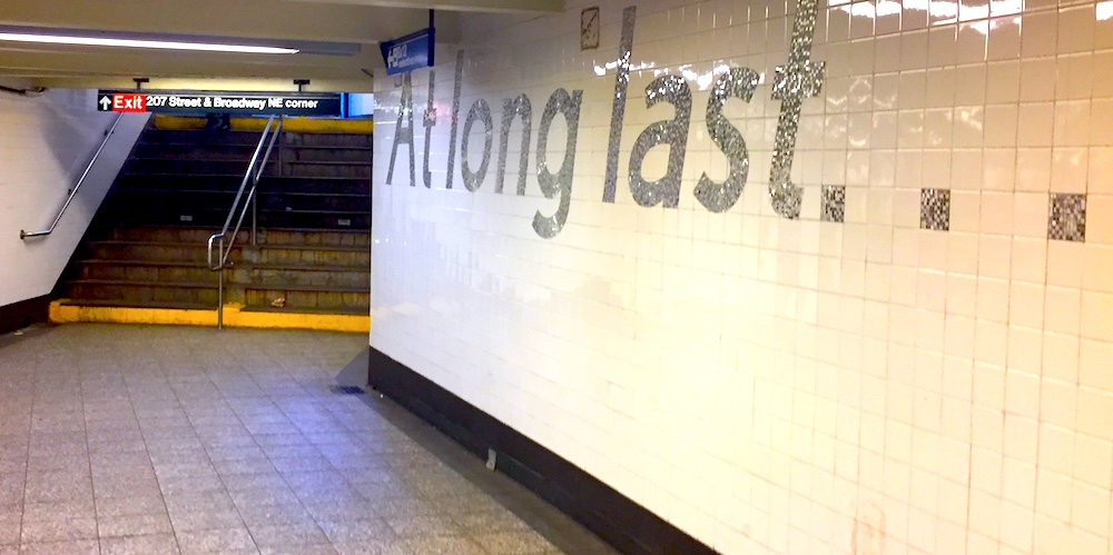 207th Street Subway Station, Inwood, NYC | Photo credit: Rose Spaziani