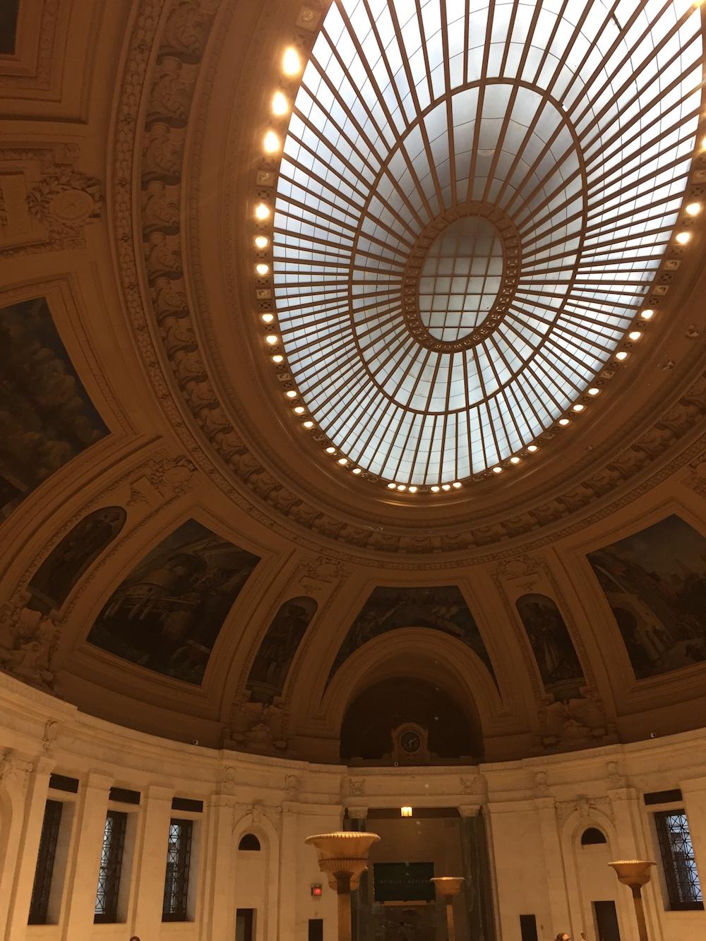Skylight inside Alexander Hamilton U.S. Custom House | Photo credit; Rose Spaziani