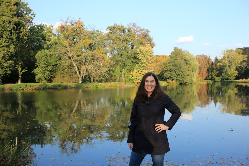 Author on the grounds of Chateau Lednice in Czech Republic   Photo credit: Rose Spaziani
