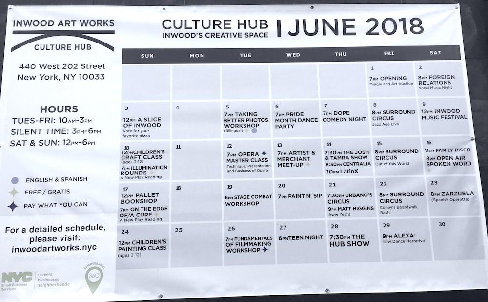 Culture Hub Calendar by Inwood Art Works | Photo credit: Rose Spaziani