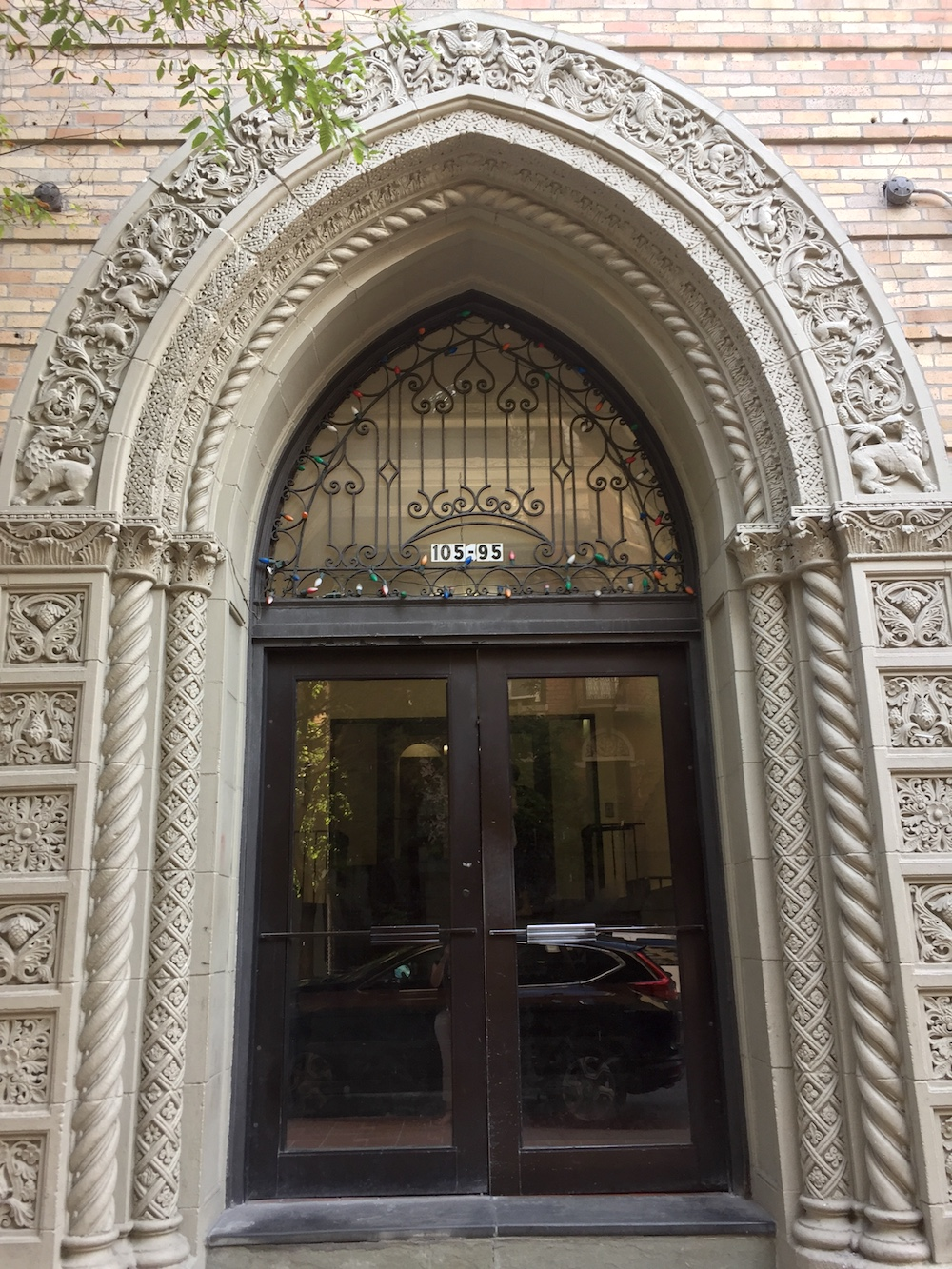 Arched doorway on Cabrini Boulevard, NYC | Photo credit: Rose Spaziani