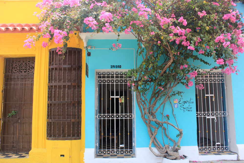 Colorful buildings on a street in Cartagena, Colombia | Photo credit: Rose Spaziani