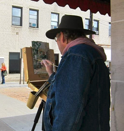 At work, during a Quick Draw in Mount Lebanon,PA