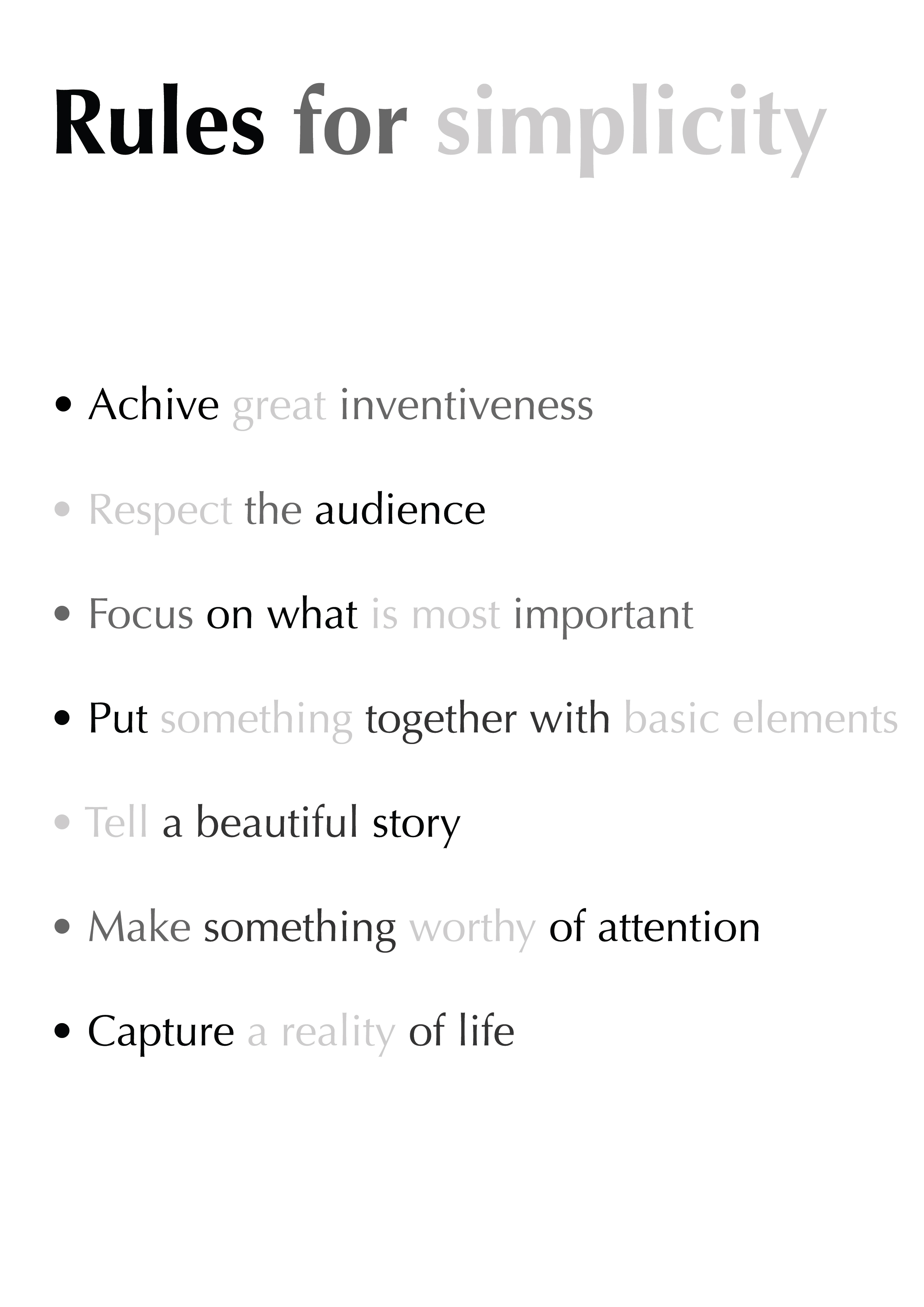 Rules for simplicity