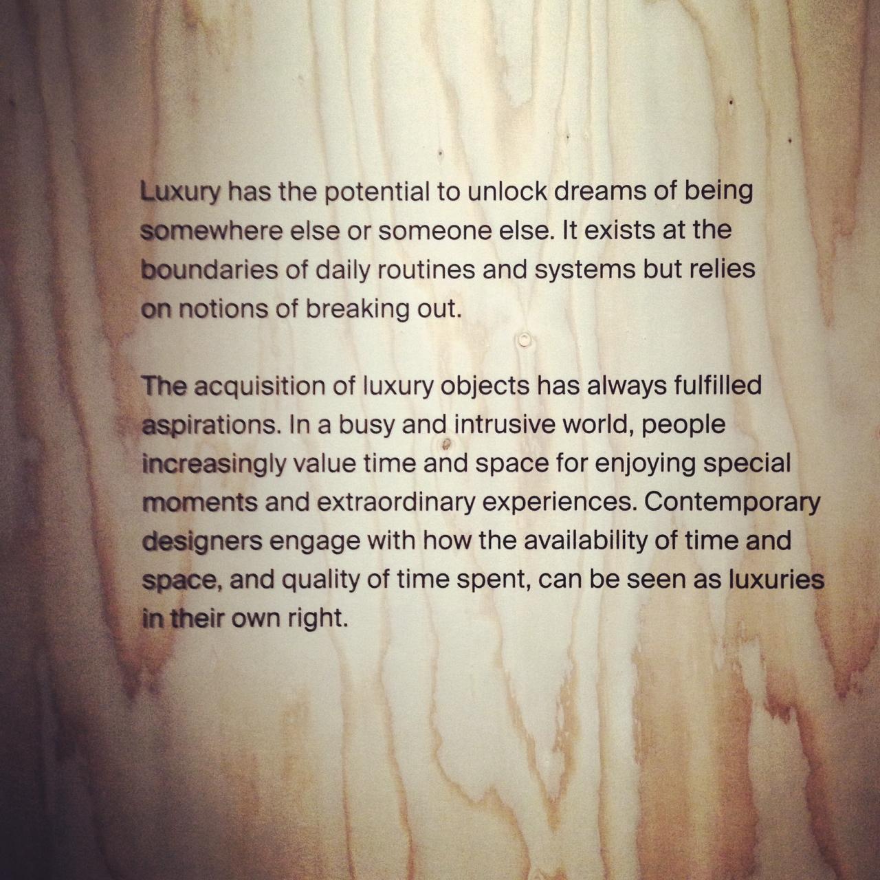 Luxury message