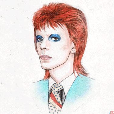 Every hairdo that David Bowie has ever had.