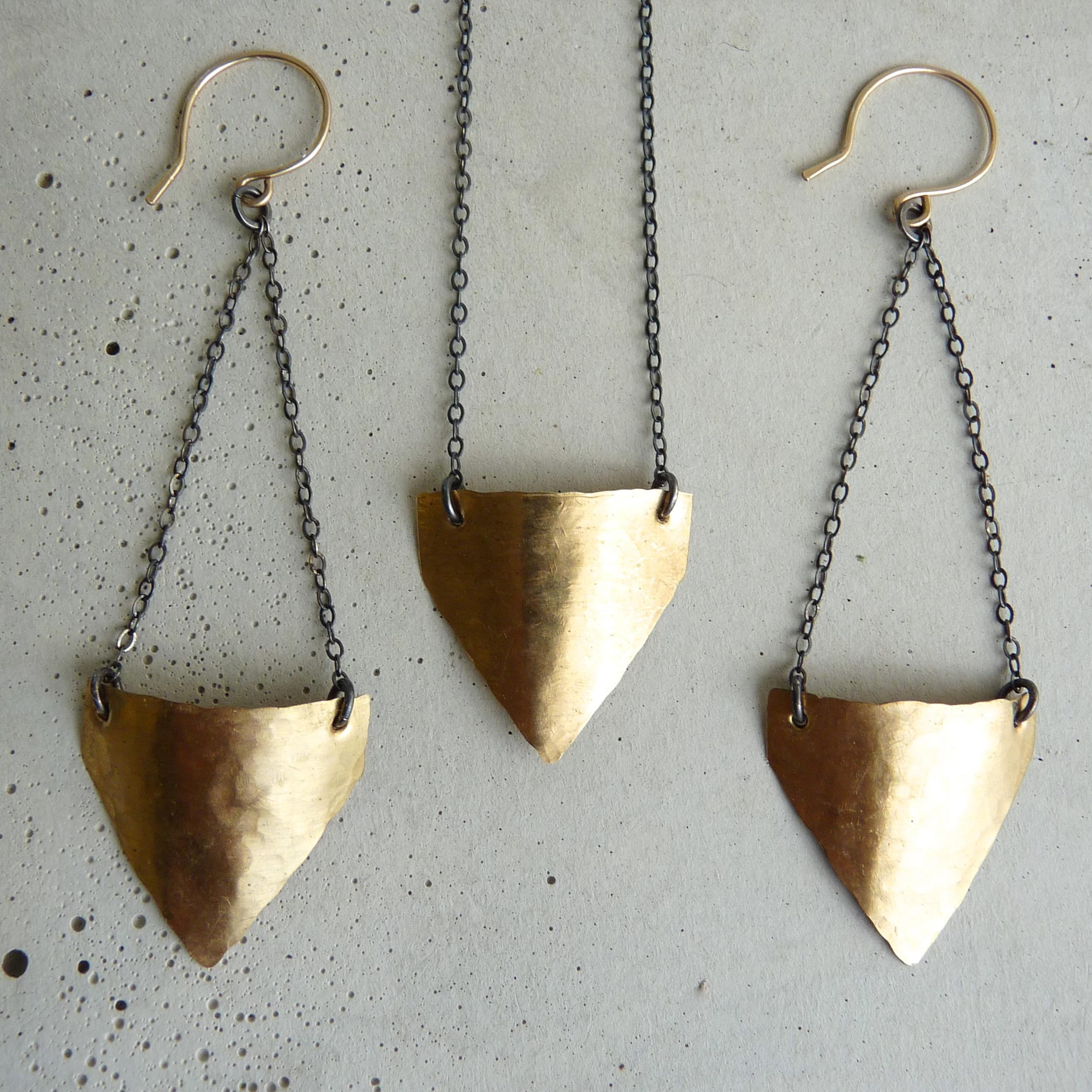 SPADE necklace & earrings