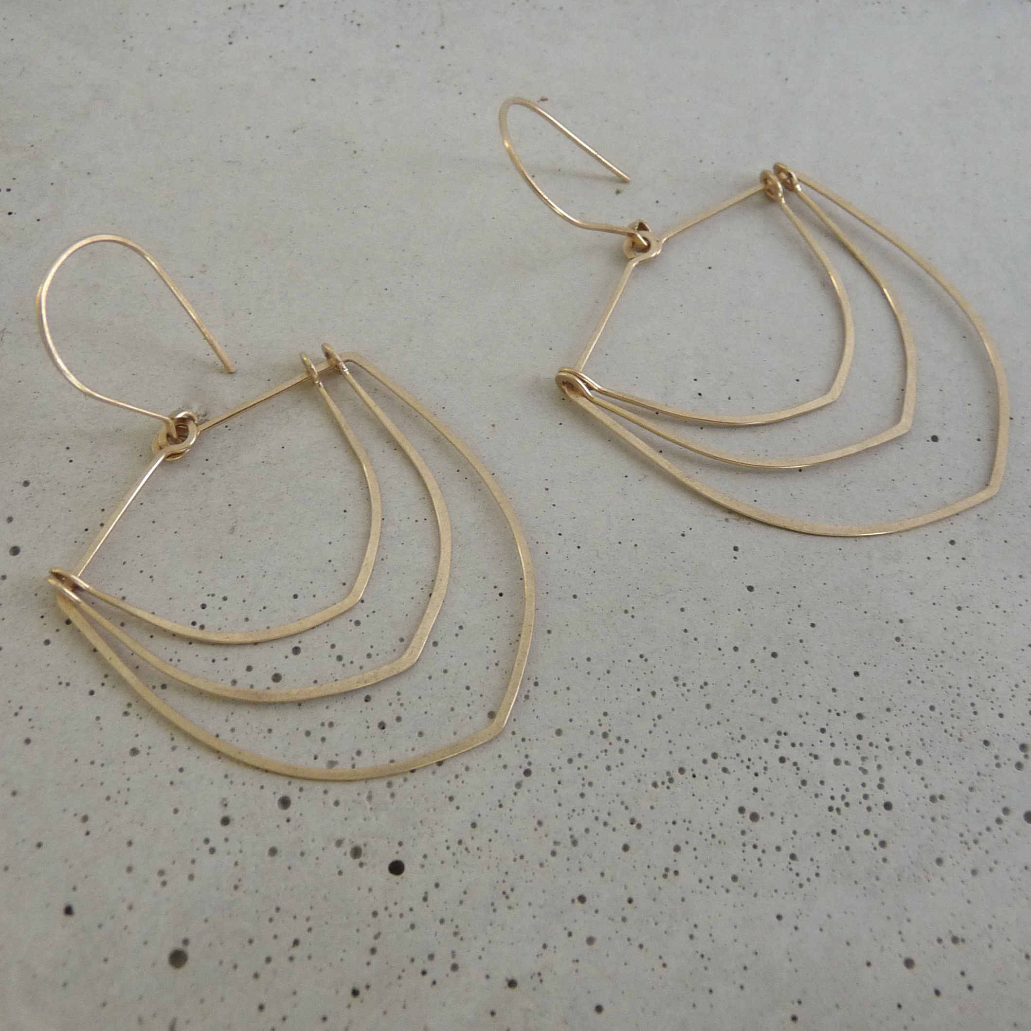 new refined basics, gold feather earrings, gold arch earrings, minimal bridal jewelry, 14k gold earrings, wedding