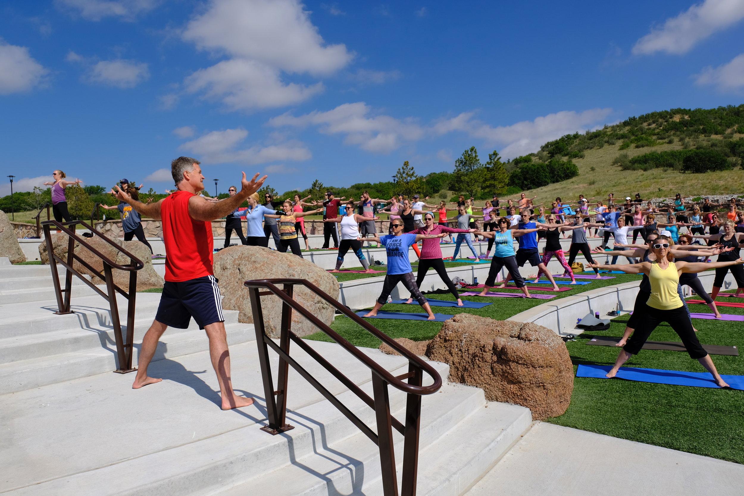 ICY offers FREE Yoga in the Park for the Castle Rock Community every summer