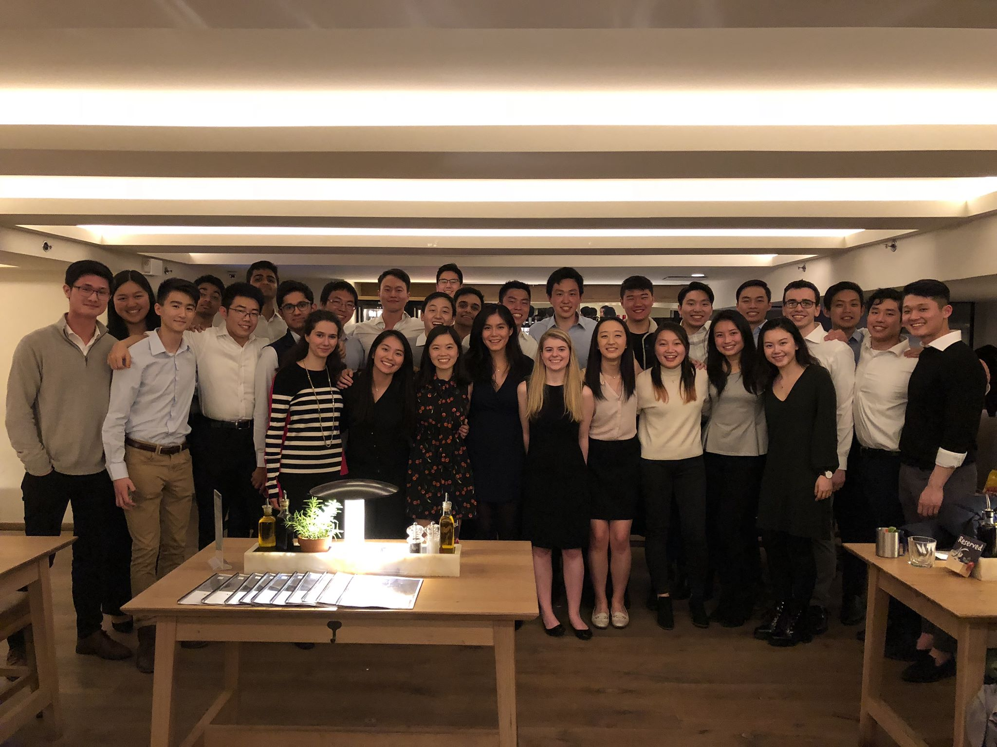 Back row, left to right:  Ethan Lin ('21), Melissa Zhang ('21), Kartik Nalamalapu ('22), Kartikay Sharma ('22), Josh Seol ('19)  Middle row, left to right:  Kevin Ho ('21), Weiting Hong ('22), Siddharth Tripathi ('22), Howie Shen ('21), SK Ra ('19), Jonathan Zhao ('21), Varun Bhardwaj ('21), Edward Hu ('19), Travis Liu ('20), Bill Shen ('19), Vincent Cao ('20), Aidan Lee ('20), Andrew Chanin ('21), Kevin Cao ('21), Matthew Zhang ('21), David Moon ('20)  Front row, left to right:  Michelle Rozelman ('22), Jessica Chen ('21), Jacqueline Huang ('19), Natasha Lim ('19), Mimi Markham ('21), Ariel Kau ('21), Rebecca Wang ('20), Shirley Zhan ('20), Sara Liu ('22)   Not pictured:  Janet Huang ('22), Mike Zhang ('20)