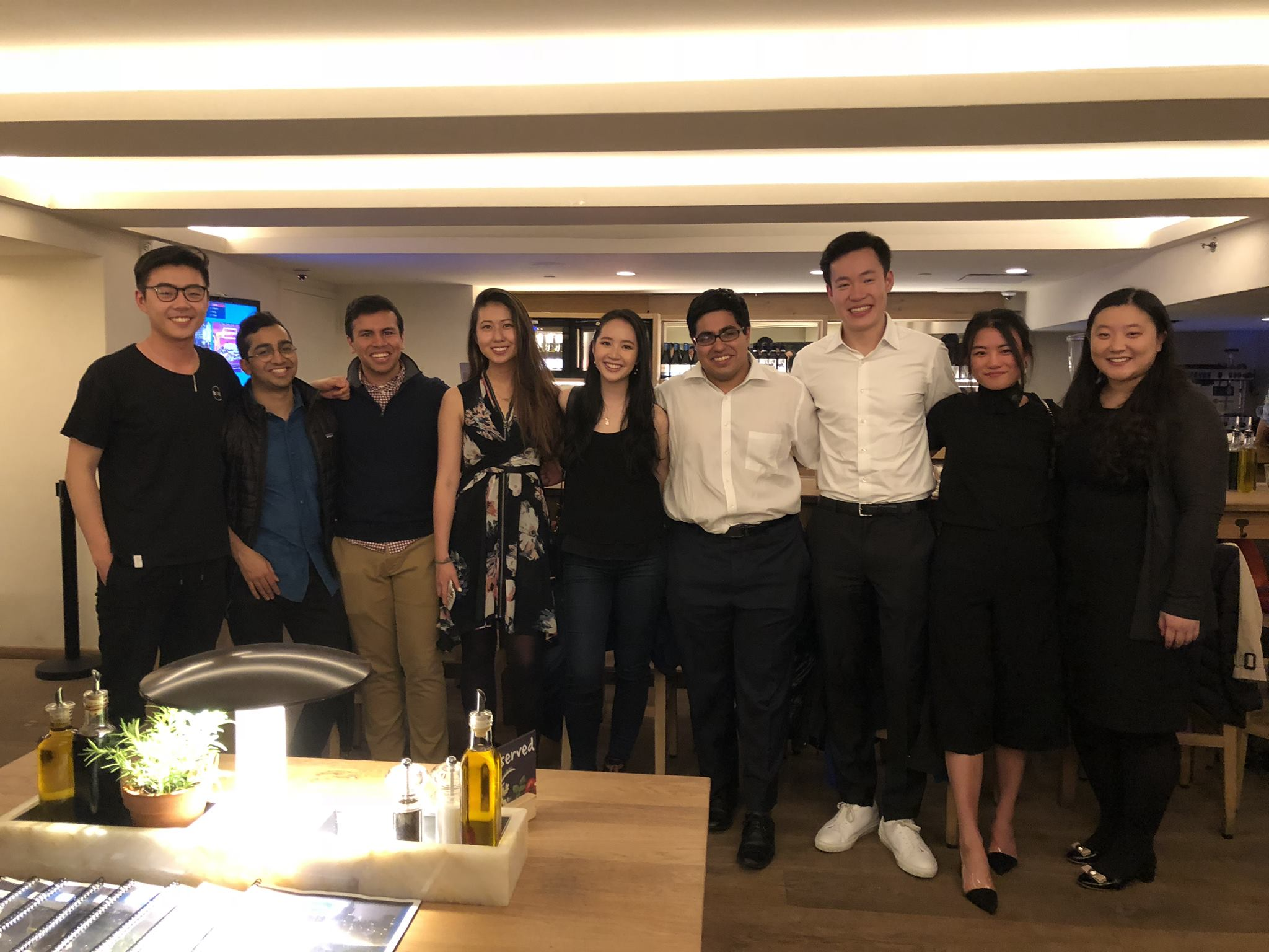 Left to right:  Evan Wang ('17), Mathew Roy ('16), Aditya Garg ('18), Angela Li ('17), Amanda Lin ('17), Varun Sawhney ('16), Wei Ming Wong ('16), Arlina Cai ('17), Jessica Ma ('18)   Not pictured:  Neil Bhuta ('18)
