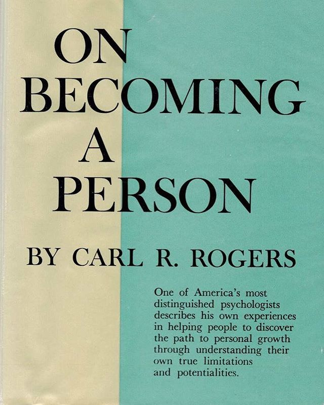 Recommend by a friend, really enjoying it thus far... Books To Read: Carl Rogers- On Becoming A Person