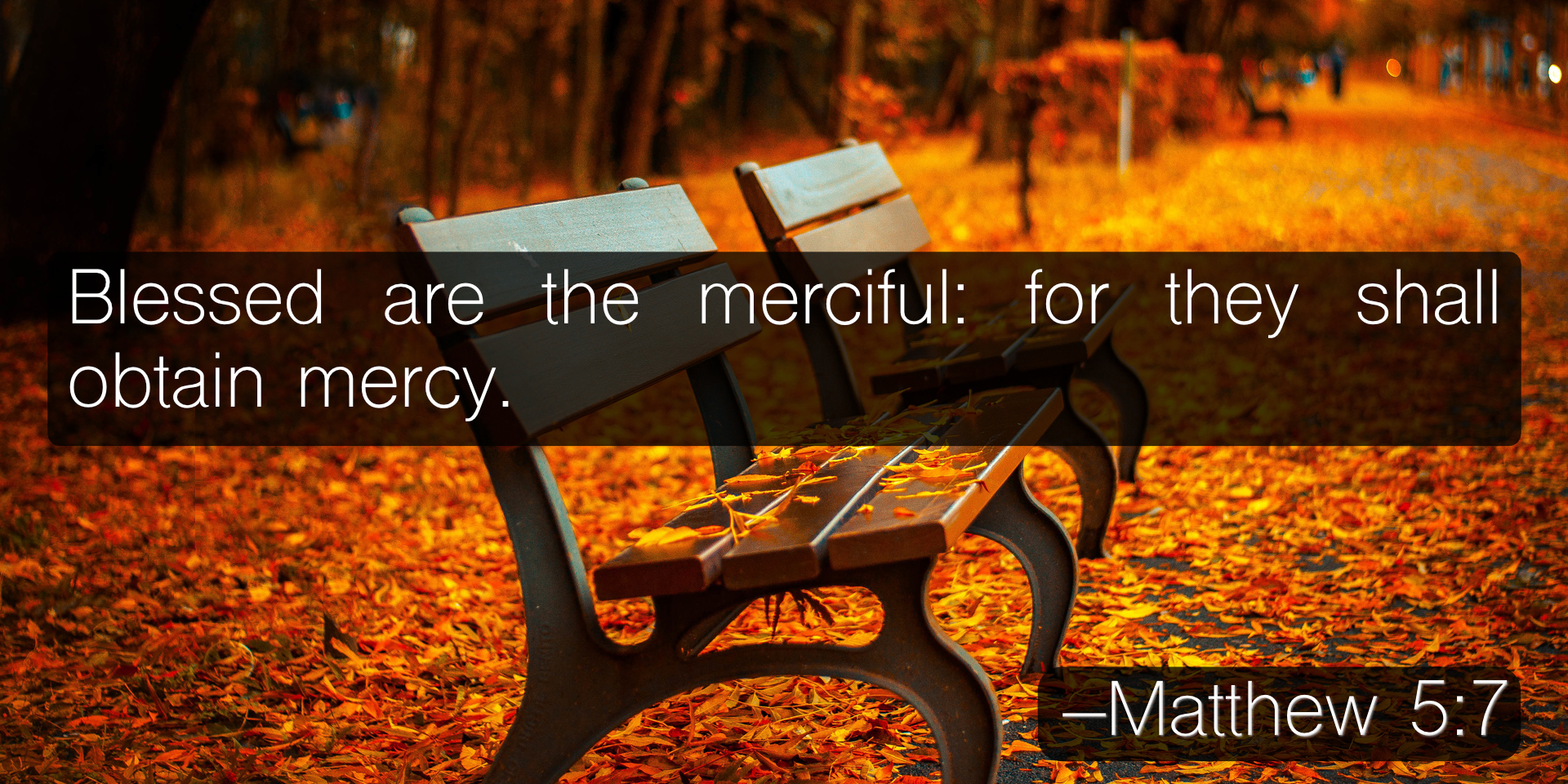 Blessed are the merciful: for they shall obtain mercy. –Matthew 5:7