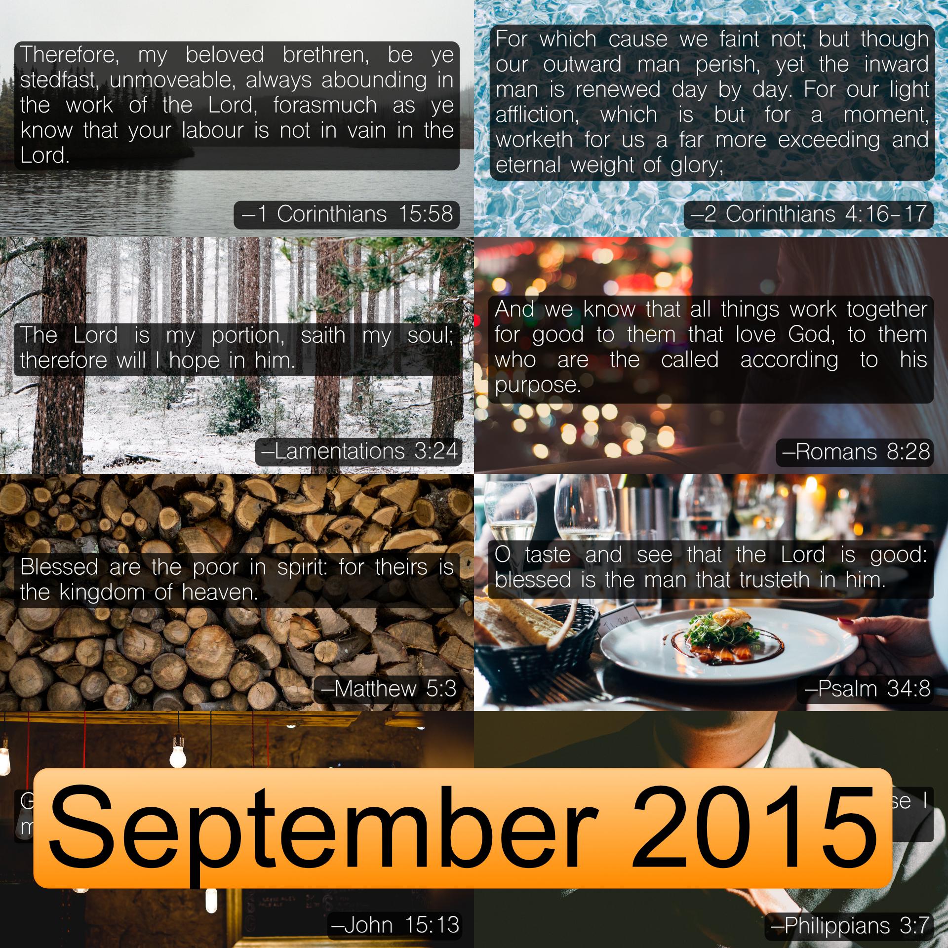 September 2015 Image Pack