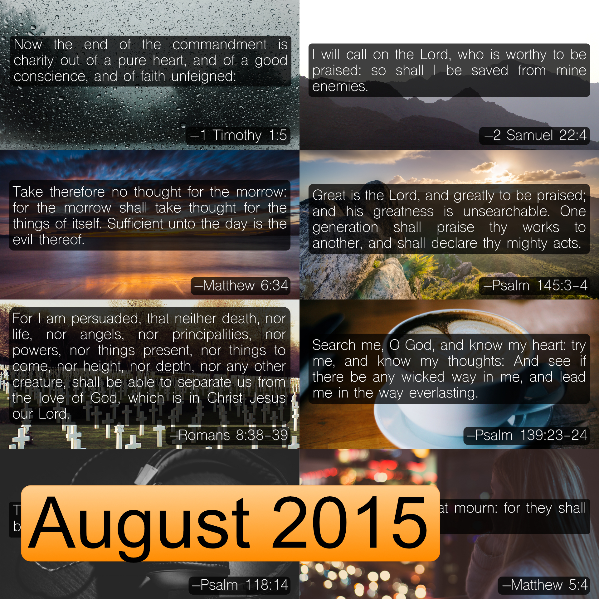 August 2015 Image Pack