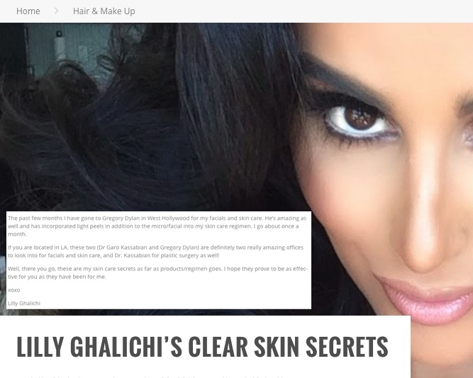 "GlamCEO.com ""Lilly Ghalichi's Clear Skin Secrets"""