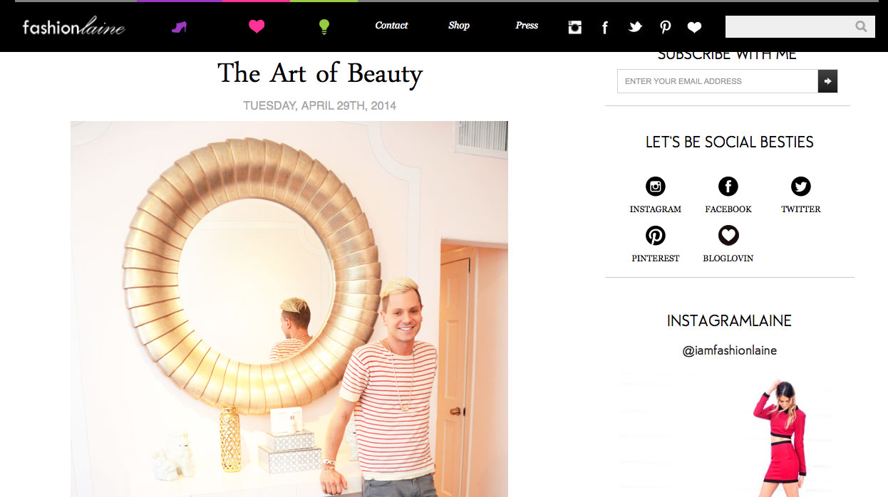 "Fashionlaine ""The Art of Beauty"""