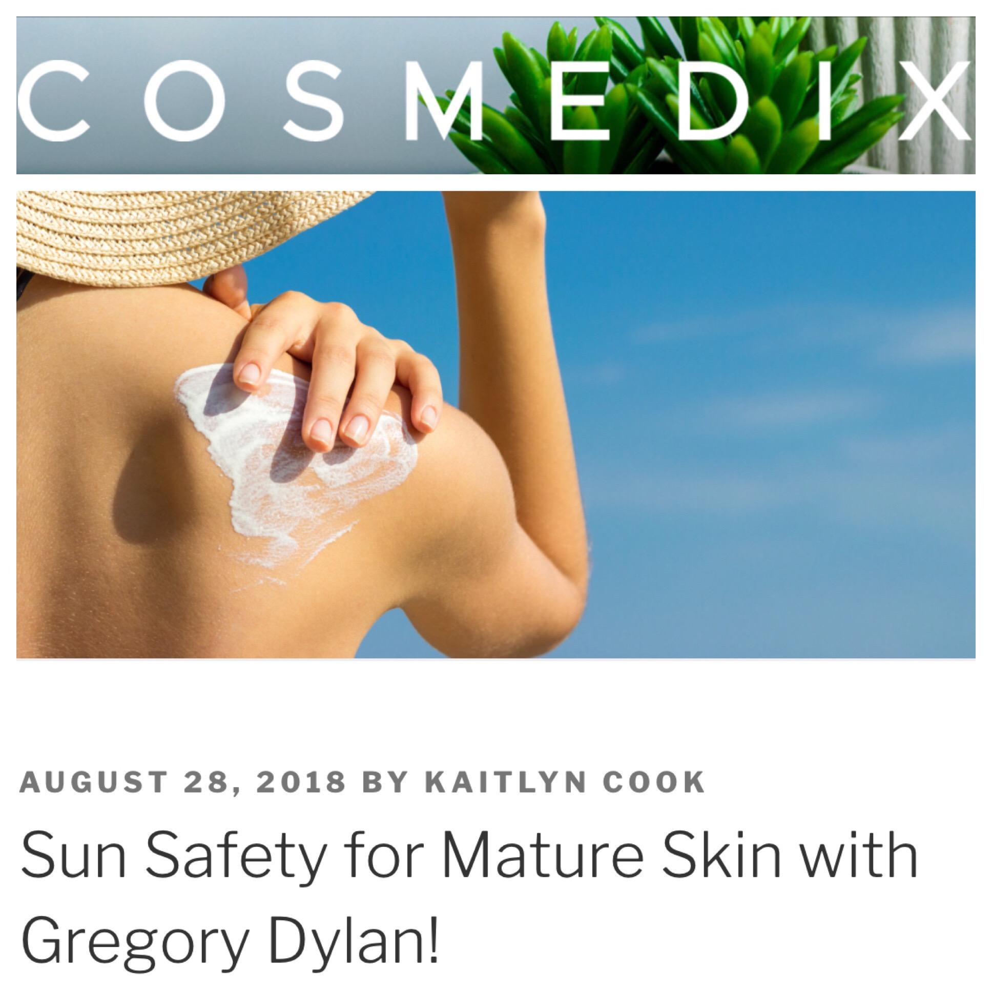 Gregory Dylan on COSMEDIX Blog!