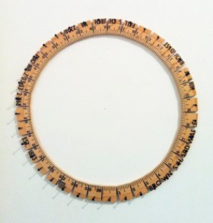 Evan Reed     Circumference    ,  2013   Wooden Yardstick   1.5 x 13.5 in   $700