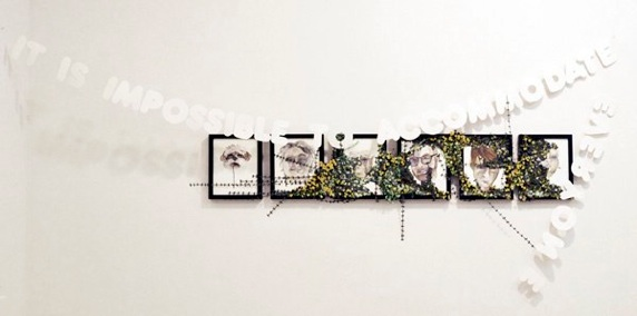 Gina Dawson     It is Impossible to Accomodate Everybody,  2011-13  Watercolor, Cut Paper, String   Dimensions Variable   $4,000