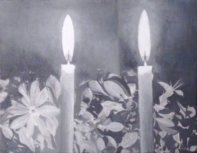 David Abecassis   Candles,  2013 Oil on canvas 11 x 14 inches $400
